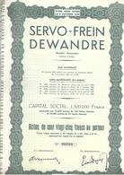Servo-Frein Dewandre - Liège - Industrie