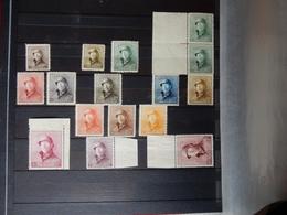 BELGIUM  COBnr 165/78**  MNH  Albert L Met Helm ROI CASQUE  Met Bladboord - 1915-1920 Albert I