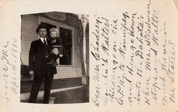 Real Photo Véritable 1910 - Child Enfant - Card Sent From Dover, Maine To Nicolet Falls Québec - 2 Scans - Postcards