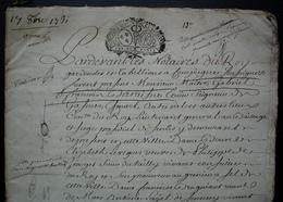 1731 Ferme De Mermont Crépy En Valois Oise Bail De 36 Pages De François Darraine (Compiègne Senlis)  Pour Antoine Sevin - Manuskripte
