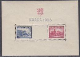 Tchécoslovaquie BF N° 6 X Exposition Philatélique E Prague, Le Bloc Trace De Charnière Sinon TB - Blocs-feuillets