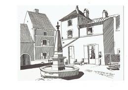 Cpm - 70 - SCEY SUR SAONE - Dessin De Jean Garneret - Edit Folklore Comtois - Juillet 1961 - Fontaine Banc - Other Municipalities