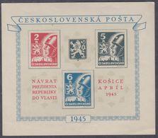 Tchécoslovaquie BF N° 8 XX Arrivée Du Président Benès à Kosice, Le Bloc Sans Charnière, TB - Blocs-feuillets