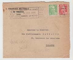 POUDRERIE NATIONALE DE TOULOUSE /  LSI  Au Tarif  Du 06/01/49, 2° ECHELON    Pour  Paris - Marcophilie (Lettres)