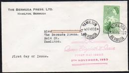 Bermuda 1953 Brief / Letter FDC  MiNr. 132  Osterlilien - Bermuda