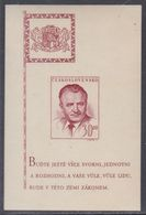 Tchécoslovaquie BF N° 12 XX 52è Anniv. Du Président Gottwald  Le Bloc Non Dentelé Sans Charnière, TB - Blocs-feuillets