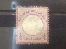 Germany 1872 1/4g Mauve Used SG 16 Mi 16 (2nd Grade) - Gebraucht