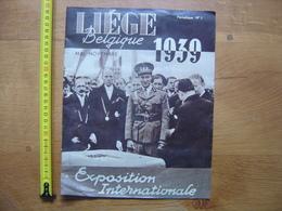 1939 LIEGE BELGIQUE Exposition Internationale Mai Novembre NUMERO 1 WWII 3 Langues - Livres, BD, Revues