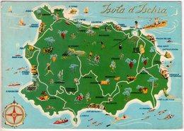 Isola D'Ischia. Cartina. VG. - Carte Geografiche