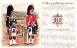 Vintage 1919 - Canada - Black Watch Royal Highlanders 42nd Foot And 73rd Foot - Battle Honors - 2 Scans - Regiments