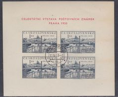 Tchécoslovaquie BF N° 15 O Exposition Philatélique De Prague Le Bloc Non Dentelé Belle Oblitération, TB - Blocs-feuillets