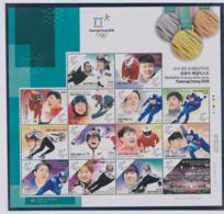 Korea 2018 Olympic Games PyeongChang - Medalists Souvenir Sheet MNH/** (H59B) - Inverno 2018 : Pyeongchang