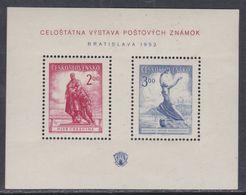 Tchécoslovaquie BF N° 16 X Exposition Philatélique De Bratislava Le Bloc  Trace De Charnière Sinon TB - Blocs-feuillets