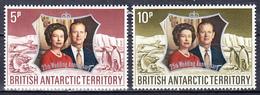 TERRITOIRE ANTARCTIQUE BRITANNIQUE - 1972 - Silver Wedding  -  Yvert 43/44 - Neufs ** (L514-6) - Territoire Antarctique Britannique  (BAT)