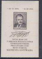 Tchécoslovaquie BF N° 17 XX Mort Du Président Gottwald Le Bloc Non Dentelé, Sans Charnière, TB - Blocs-feuillets