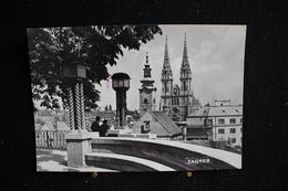 JA 3 - Europe - Croatie - Zagreb - Cathédrale - Circulé 1962 - Croatie