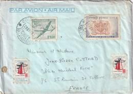 """Enveloppe Et Lettre Du Paquebot """" FRANCE """" Voyage Autour Du Monde - Dampfer"""