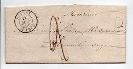 - Boite Rurale BLONDEFONTAINE Via JUSSEY (Haute-Saône) Pour LAMARCHE (Vosges) 18 JUIN 1850 - Taxe Manuscrite 2 Décimes - - 1849-1876: Klassieke Periode