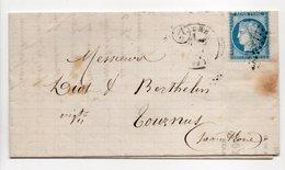 - Boite Rurale VINAIGRES A. MATHIOT, SAINT-GERMAIN Via LURE (Haute-Saône) Pour TOURNUS 16 MAI 1874 - - 1849-1876: Klassieke Periode