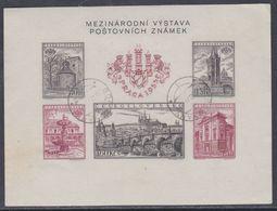 Tchécoslovaquie BF N° 19 O Exposition Philatélique De Prague Le Bloc Non Dentelé, Assez Belle Oblitération, TB - Blocs-feuillets
