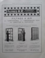 FILTRES à AIR Ets COMBEMALE  - Rue Curton à Clichy Sur Seine  - Page Catalogue Technique De 1925 (Dims Env 22 X 30 Cm) - Planches & Plans Techniques