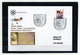 BRD, 2002, Brief (echt Gelaufen) Mit Michel 2140 Und Sonderstempel, 1000 J. Markt-, Münz- U. Zollrecht Für Osnabrück - Lettres & Documents