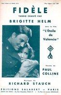 JEAN GABIN BRIGITTE HELM - FIDELE - 1933 - EXC ETAT PROCHE DU NEUF - AU RECTO PHOTO DU FILM L'ETOILE DE VALENCIA - - Música De Películas