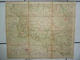 Carte Topographique Toilée 1/100000 1908 Bouillon Gedinne Paliseul Sugny Bohan Libramont Florenville Chiny Bertrix Libin - Cartes Topographiques