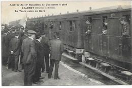 CPA MEURTHE-ET-MOSELLE 54 LABRY Arrivée Du 16 ème Bataillon De Chasseur à Pied -Le Train En Gare . - Francia