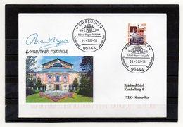 BRD, 2002, Brief (echt Gelaufen) Mit Michel 2140 Und Sonderstempel, Richard-Wagner-Festspiele Bayreuth - Brieven En Documenten