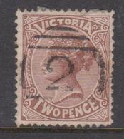 Australia-Victoria SG 223 1880-84 Two Pence Sepia Perf 13,used - 1850-1912 Victoria