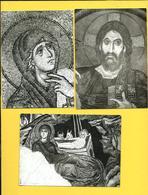 CPM  GRECE, MONT-ATHOS, DAPHNI : Lot De 3 Cartes ( Oeuvres D'art ) - Grecia