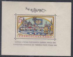 """Tchécoslovaquie BF N° 21 XX """"Pragua 1962"""", Expo. Phila Internationale,  Le Bloc Dentelé, Sans Charnière, TB - Blocs-feuillets"""