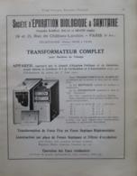 Machine EPURATEUR BIOLOGIQUE & SANITAIRE - Page Catalogue Technique De 1925 (Dims Env 22 X 30 Cm) - Travaux Publics