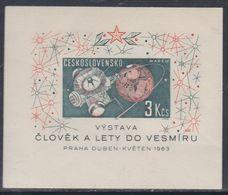 Tchécoslovaquie BF N° 23 XX Exposition Du Cosmos à Prague,  Le Bloc Non Dentelé, Sans Charnière, TB - Blocs-feuillets