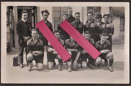 Carte Photo US QUEVILLY Contre OLYMPIQUE De MARSEILLE 1927 _ O.M Bat US. Quevilly 3-0 & Perd La Coupe De France De Foot - Voetbal