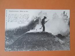 Charbonniers . Mise En Feu . Dos 1900 . Poeme - France