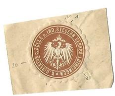 Vignette De Scellement / Siegelmarke : Kaiserlischer Direktor Der Zölle Une Industrie Steuern Elsass-Lothringen -1 - Erinnophilie