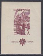 Tchécoslovaquie BF N° 24 X Millénaire Du Château De Prague,  Le Bloc Non Dentelé,  Trace De Charnière Sinon TB - Blocs-feuillets