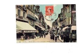 Cpa - 03 - VICHY - Rue De Nimes Vue Prise Des Quatre Chemins LL 100 Garage De Paris Café Brasserie Tantonville Cercle - Vichy