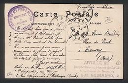 Cachet  Artillerie - Annexe Des Forges De Lyon - Annexe De Besançon - 2 Rue Megevand - Guerre De 1914-18