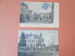 Cernoy . 2 Cartes Ecole De Garcon . Et Centre Du  Pays - Francia