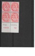 Type Blanc 3 C. Rouge En Bloc De 4 Bord De Feuille, Tous** (M. N. H.) - Signé ROUMET - LUXE - Dentelure Parfaite - 1900-29 Blanc