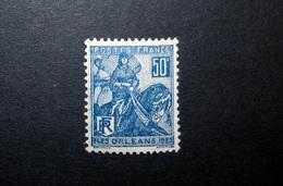 FRANCE 1929 N°257I ** (JEANNE D'ARC. LIBÉRATION D'ORLÉANS. 50C BLEU. TYPE I) - Nuovi