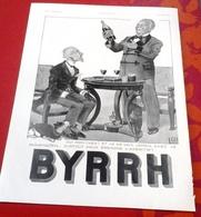 Publicité Année 1937 Apéritif Byrrh Issue Revue Illustration - Advertising