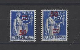 FRANCE . YT  N° 478d  Valeur Sur Valeur Avec Barre  Neuf *  1940 - Variétés Et Curiosités