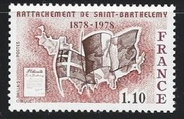 """FR YT 1985 """" Rattachement De Saint-Barthelemy """" 1978 Neuf** - France"""
