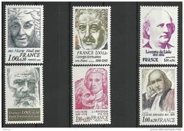 """FR YT 1986 à 1990A """" Personnages Célèbres """" 1978 Neuf** - France"""