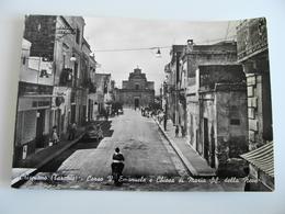 CRISPIANO   CORSO V. EMANUELE E CHIESA SANTA MARIA  DELLA NEVE   TARANTO  PUGLIA    VIAGGIATA COME DA FOTO - Taranto