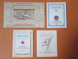 Lot De 8 Carnets Croix Rouge Dont 1952 Et 1955  Cote 1608 Euros - Rotes Kreuz